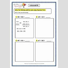 Grade 3 Maths Worksheets Addition (35 Addition Using Expanded Form)  Lets Share Knowledge
