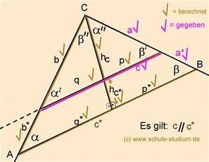 Strahlensätze Berechnen : satzgruppe des pythagoras h hensatz kathetensatz schwierige bungsaufgabe mit musterl sung ~ Themetempest.com Abrechnung