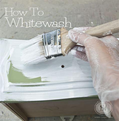 whitewash paint how to whitewash wood furniture salvaged inspirations