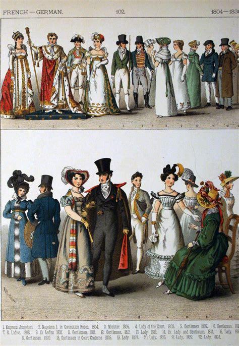 French German 1800 1830 Costume historique Histoire de