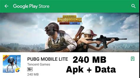 pubg mobile lite apk data for android 240 mb only official from tencent