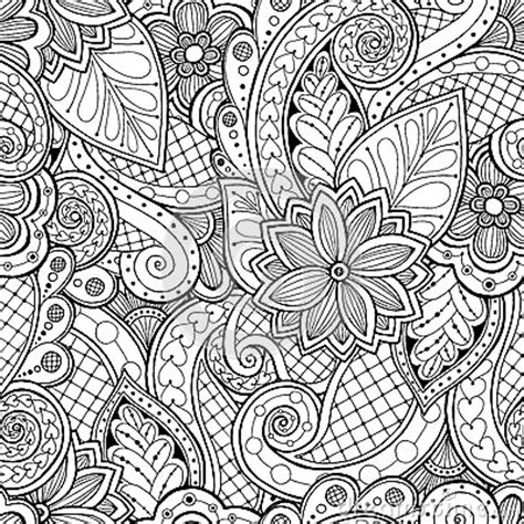 seamless background  vector  doodles flowers