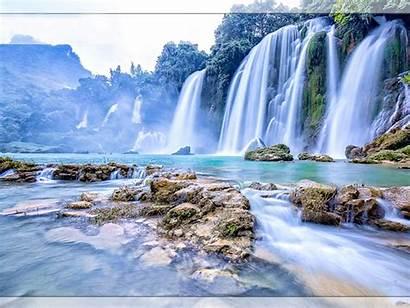 Desktop Waterfall Vietnam Gioc Wallpapers 1200 Backgrounds