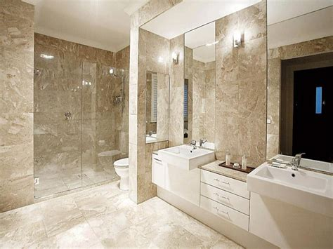idea for bathroom modern bathroom design with twin basins using frameless glass bathroom photo 368658