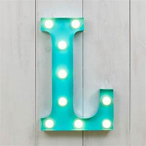 "L Vegas Metal 11"" Mini LED Letter Lights Marquee Letters"