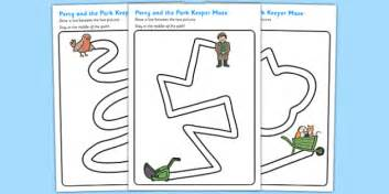 pencil path worksheets to support teaching percy the
