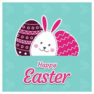 Cute happy easter card Vector | Free Download