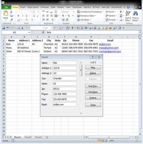 How To Work In Data Entry With Exle by Using A Data Entry Form In Excel