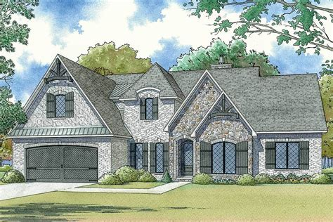 Modern French Country House Plan With Upstairs Game Room