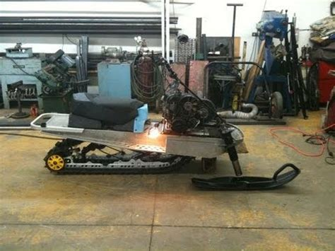 Snowmobile Engine In Mini Jet Boat by 540 Custom Snowmobile Modified Elan Build Process Phase 1