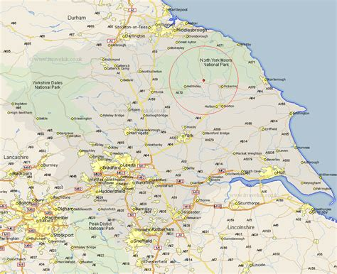 Street And Road Maps Of Yorkshire