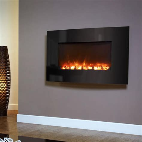 Coal For Fireplace by Amazing Deals Celsi Electriflame Curved Black Glass