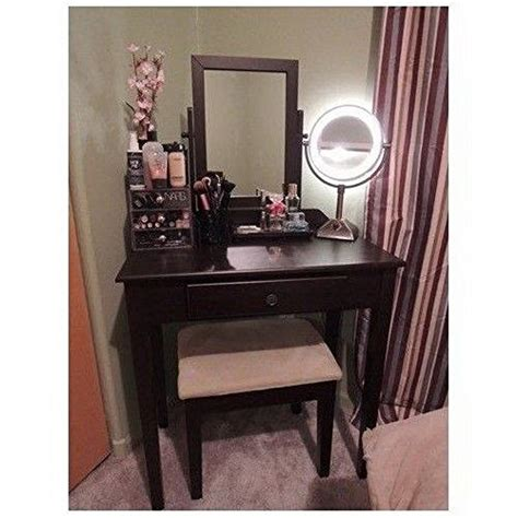 best lighted vanity table with mirror and bench for sale