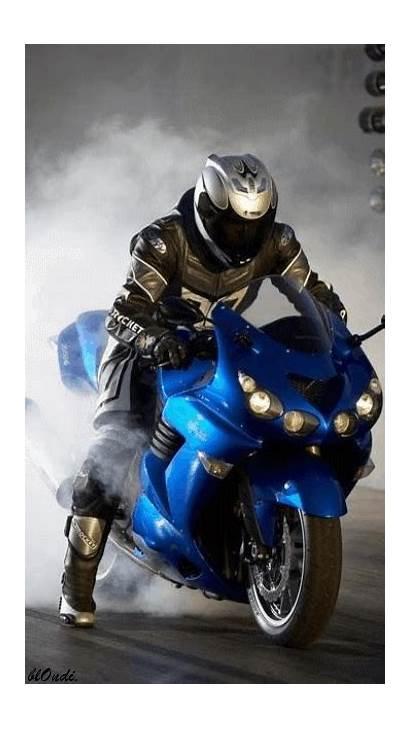 Screensaver Motorcycle Ninja Motorbike Kawasaki Gifs Bikes