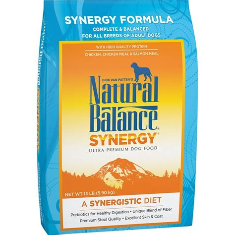 natural balance synergy formula dry dog food  lb bag