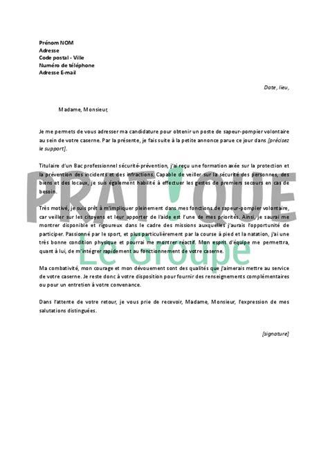 exemple lettre de motivation cuisine lettre de motivation pour un emploi de sapeur pompier
