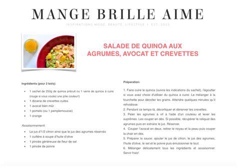 fiche recette de cuisine salade de quinoa aux agrumes avocat et crevettes mange