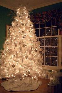 Pics For > White Christmas Tree With Blue Lights