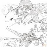Fish Coloring Golden Printable Pages Sheets Template Sheet Drawing Mudskipper Templates Dot Fishes Paper Sketch Forkids Categories Supercoloring sketch template