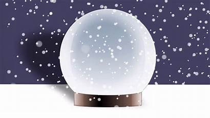 Globe Snow Effect Into Drop