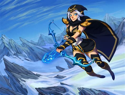 ashe league  legends wallpapers hd