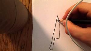 Comment Aiguiser Un Couteau : comment dessiner un couteau sanglant sp cial halloween ~ Melissatoandfro.com Idées de Décoration