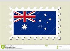 Australia Flag Stamp stock vector Image of world, post