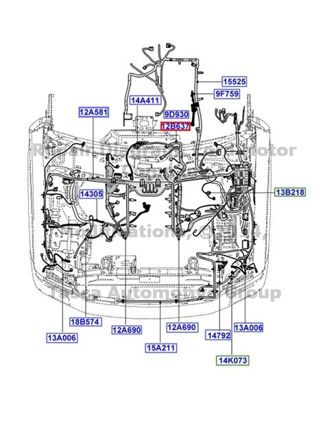 2005 Ford 5 4 Engine Wire Harnes Diagram by New Oem Engine Transmission Wiring Harness 08 10 F250