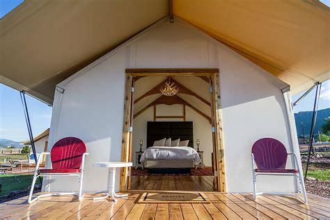 colorado glamping royal gorge cabins echo canyon tents