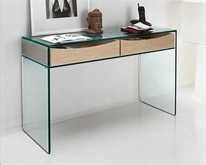 Console Verre Et Bois : table console en verre ~ Teatrodelosmanantiales.com Idées de Décoration