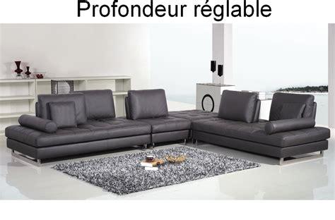 canap 233 d angle en cuir buffle italien de luxe 7 8 places penthouse noir angle droit mobilier