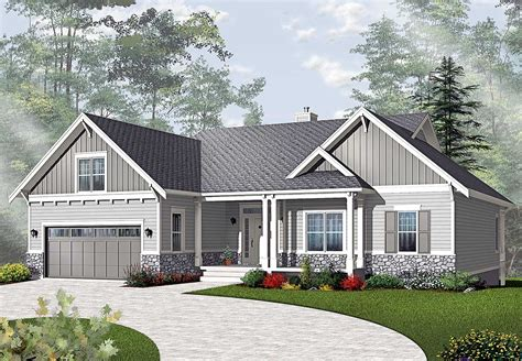 ranch house designs airy craftsman style ranch 21940dr architectural