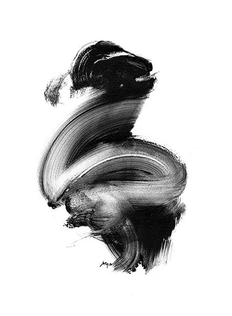 Abstract Black And White Artwork by Black And White Abstract Giclee Print By Paul Maguire