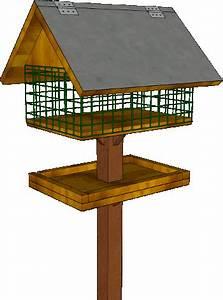 Mangeoire Oiseaux Sur Pied : plans de mangeoires couvertes ~ Teatrodelosmanantiales.com Idées de Décoration