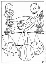 Circus Coloring Acrobat Pages Print Printable Things Sheet Characters Animal Hellokids sketch template