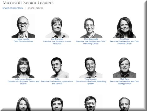 Microsoft Senior Leaders Team Reshaped; 2 Executives Depart
