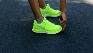 Neon yellow Nike running shoes =my babies I love the