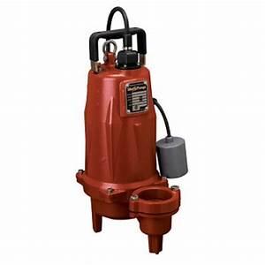 Liberty Pumps Leh152m3 2 Hp Manual Sewage Pump  208v