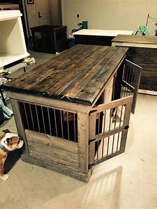 decorative dog kennels home ideas With wood dog crate cover plans