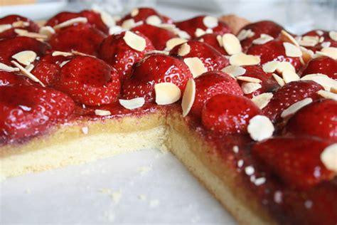 recette de tarte fraise amande