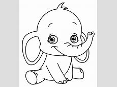 Childrens Colouring Pages to Print Elephant – Learning