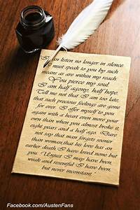 is captain wentworth39s letter to anne the best love letter With jane austen persuasion letter