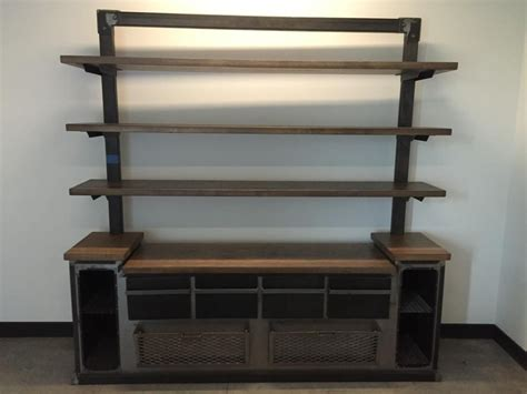 office credenza with shelves crafted modern industrial office credenza and