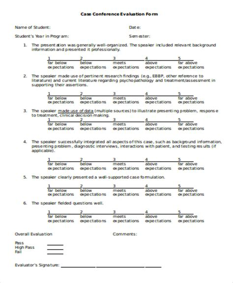conference evaluation form template free 8 sle conference evaluation forms in word sle