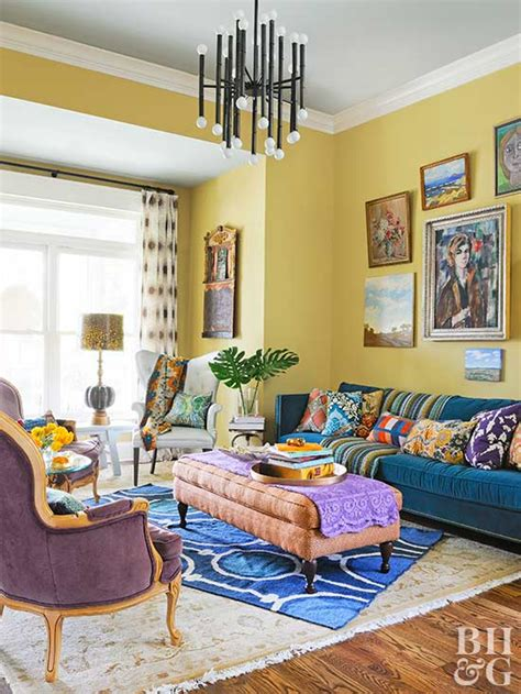 Retro Living Room Yellow by Decorating Ideas For A Yellow Living Room Better Homes