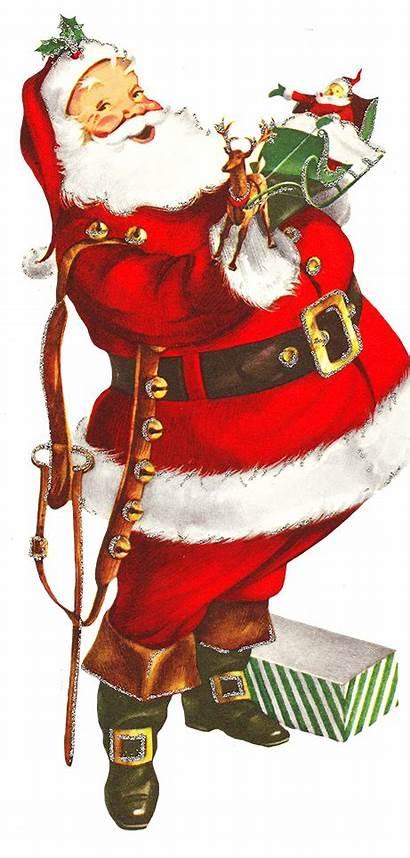 Santa Claus Clip Transparent Clipart Peeking Card