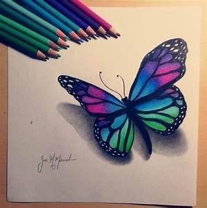 Butterfly drawing   Art   Pinterest   Papillons et Dessins