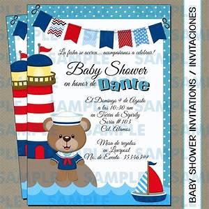 Invitaciones Baby Shower Osito Marinero osos Marinero $ 100 00 en Mercado Libre