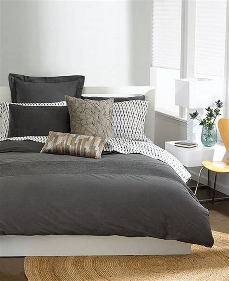 Cover Bedding by Bar Iii Bedding Garment Wash Grey King Duvet Cover