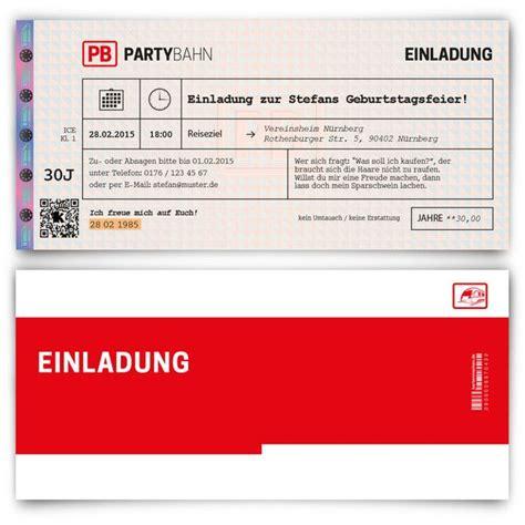 einladungskarten einladungskarten als bahnkarte zum